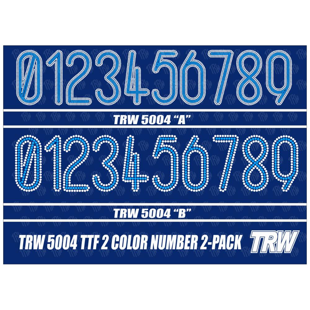 5004 2 Color Numbers 2 Pack Rhinestone TTF - Download