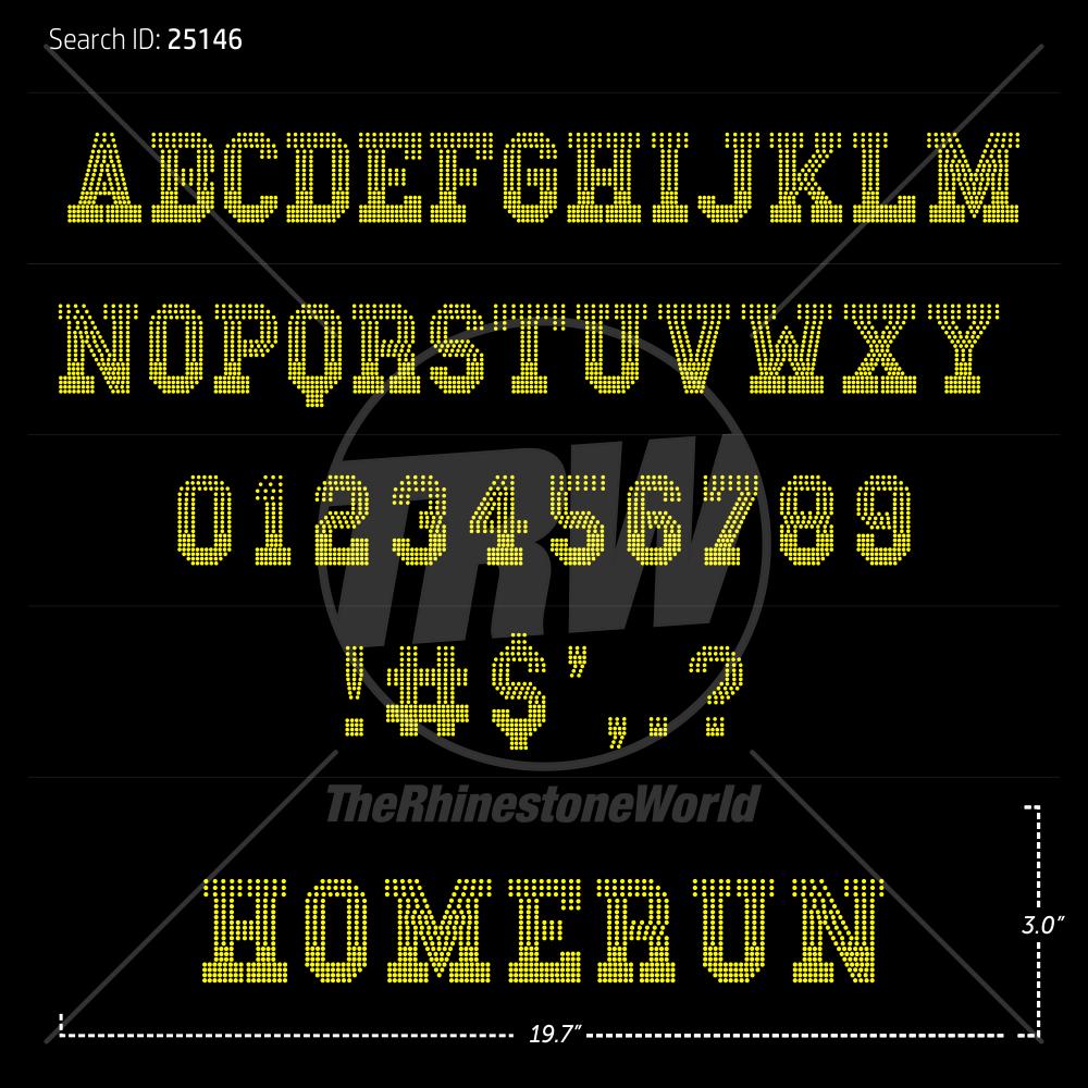 Rhinestone Fonts, Page 14