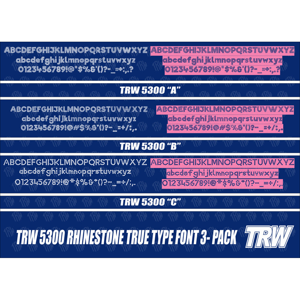 TRW 5300 Rhinestone TTF 3 Pack - Download