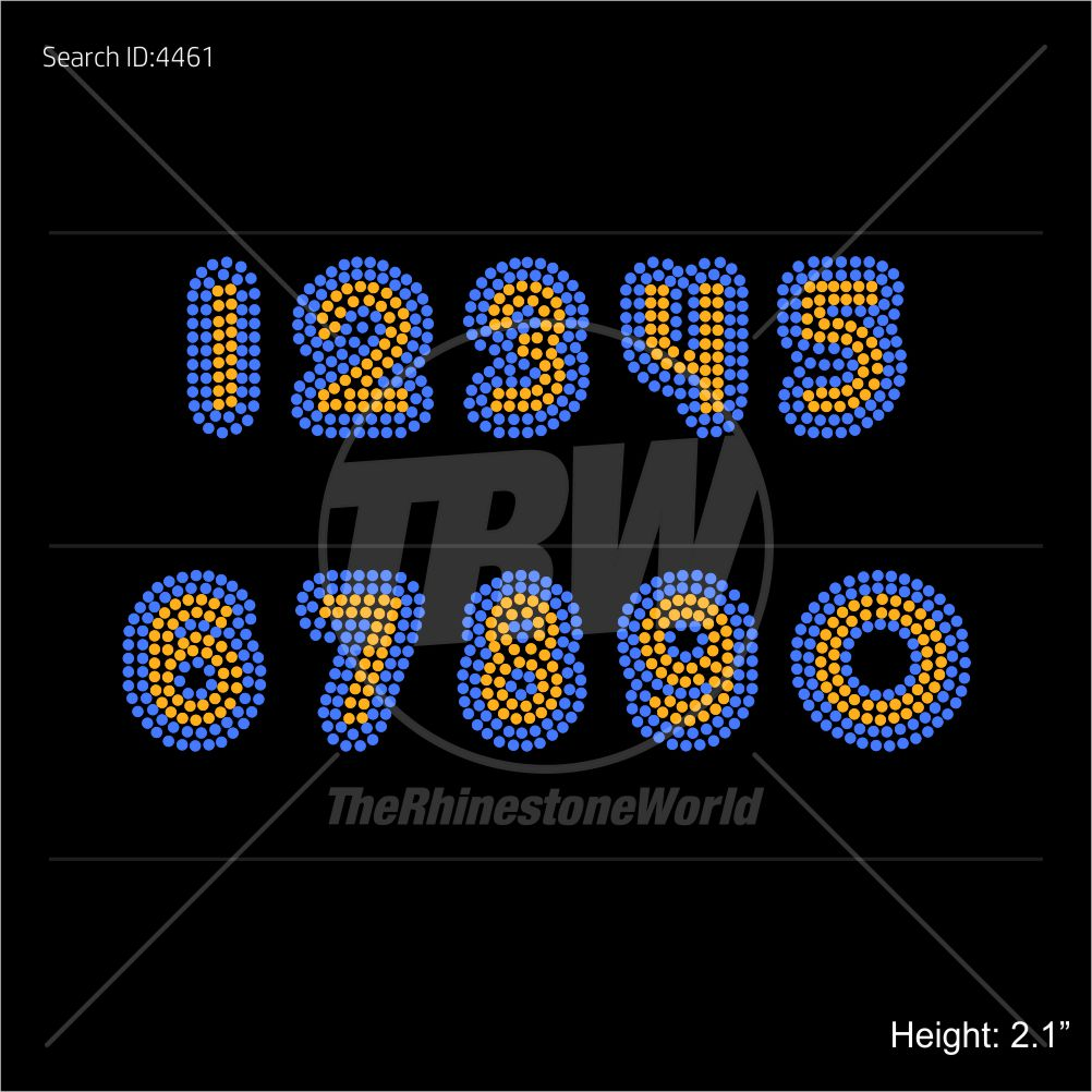 TRW 747 Numbers Rhinestone TTF - Download