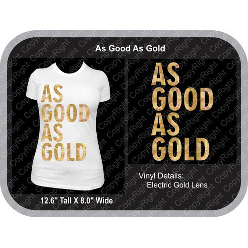 TRW As Good As Gold Vector Design  - Download