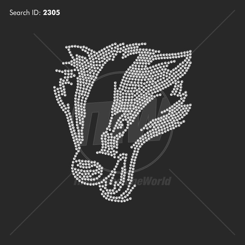 Badger 1 Rhinestone Mascot - Pre-Cut Template