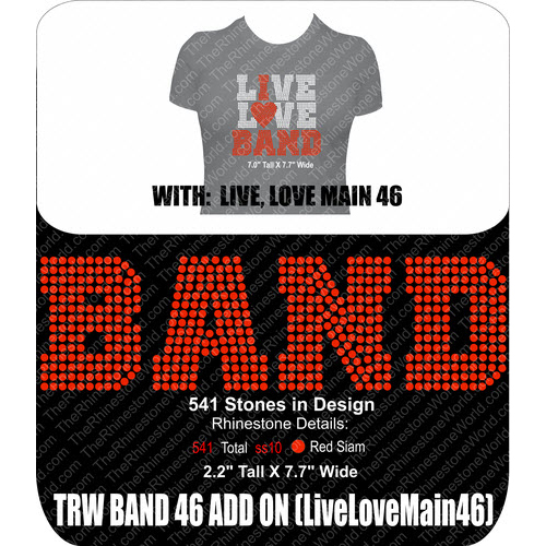TRW Band 46 Add on Rhinestone Design  - Download