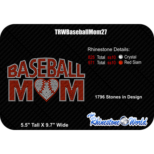 TRW Baseball Mom 27 Design W/ MOCKUP  - Download