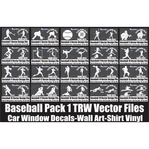 TRW Baseball Vector Pack 1 Designs  - Download