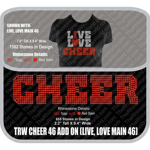 TRW Cheer 46 Add On Rhinestone Design  - Download