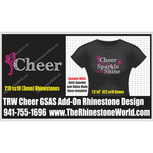 TRW Cheer Girls Sparkle and Shine Add-On Design  - Download