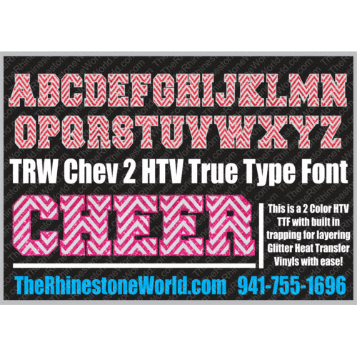 TRW Chev 2 HTV Athletic 2 TTF True Type Font Heat Transfer V - Download