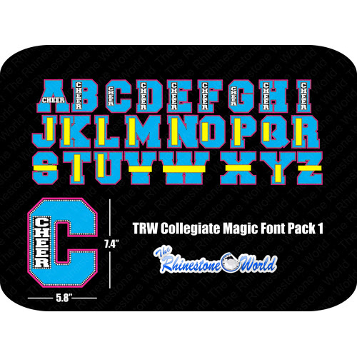 TRW Collegiate Magic Template Font Pack 1 - Download