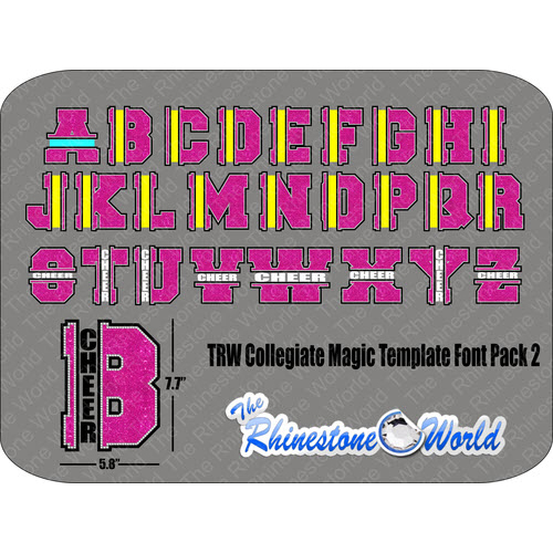 TRW Collegiate Magic Template Font Pack 2 - Download