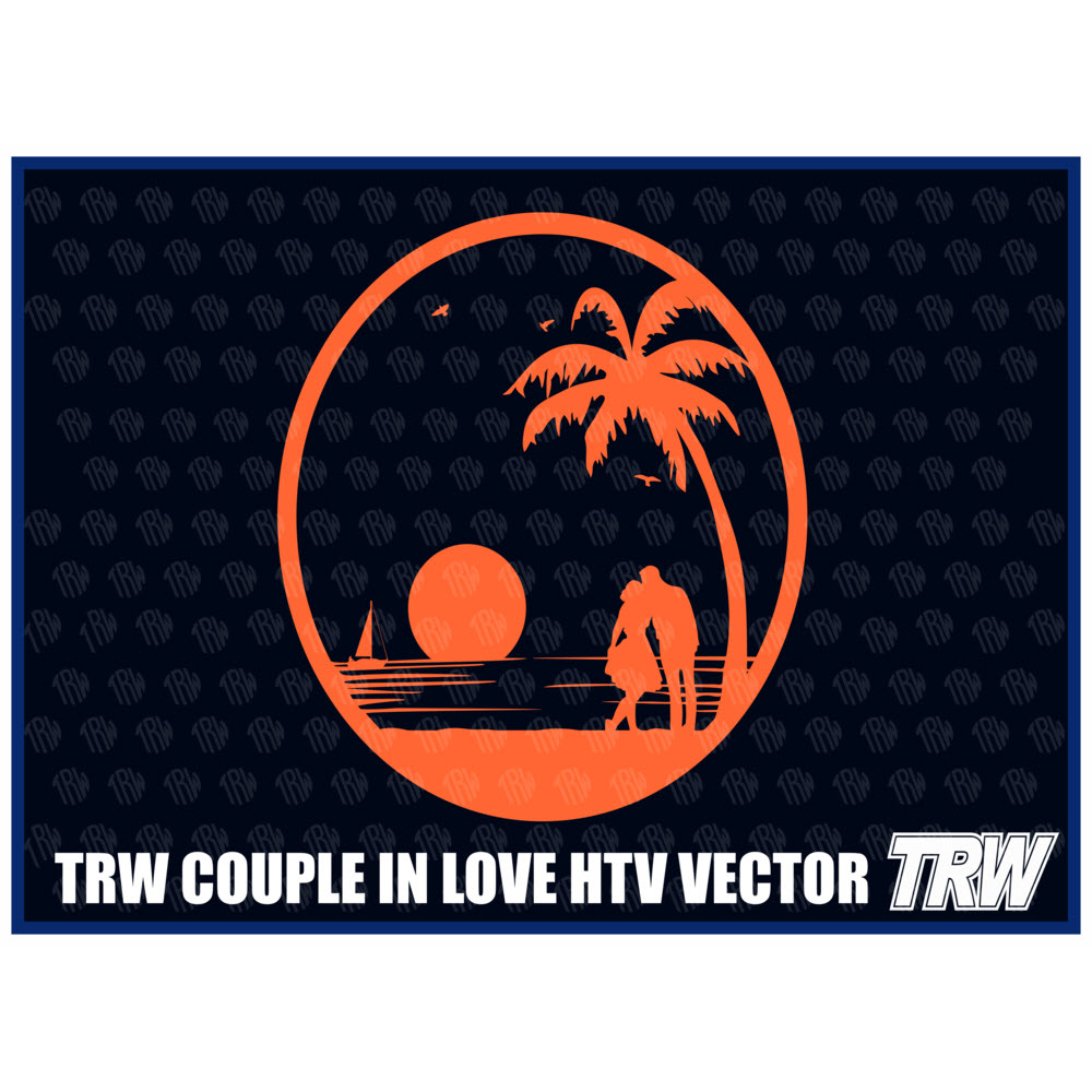 TRW Couple In Love Heat Transfer Vinyl Design Download - Download