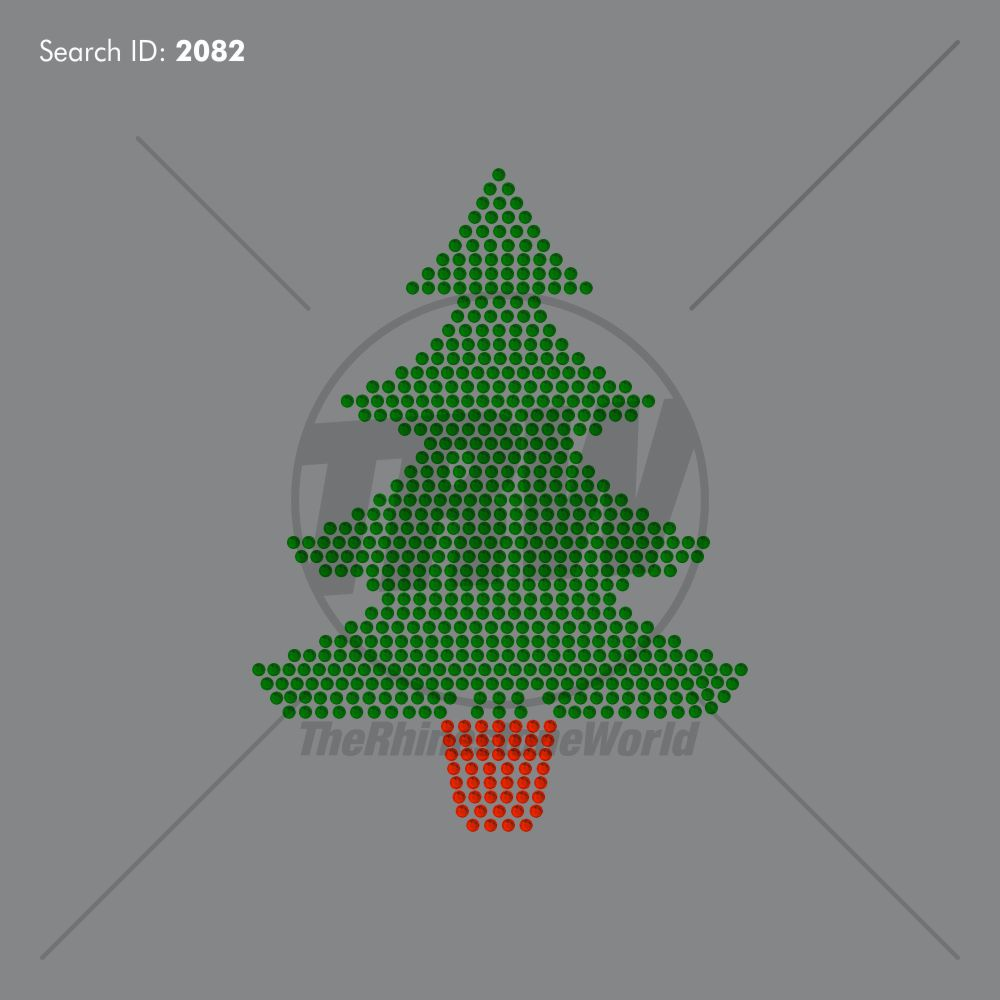Custom Xmas Tree Rhinestone Design - Download