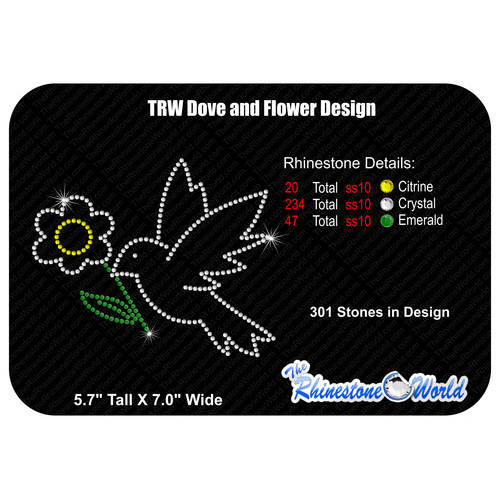 TRW Dove and Flower Design  - Download