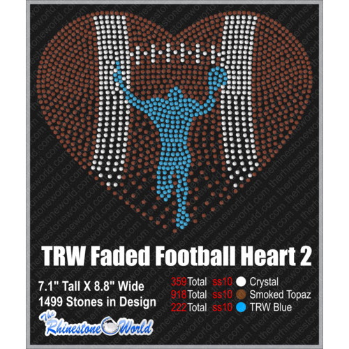 TRW FADED FOOTBALL HEART 2 Design   - Download