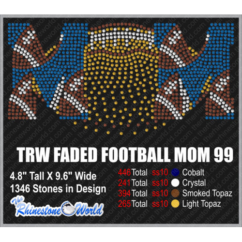 TRW FADED FOOTBALL MOM 99 Design W/ MOCKUP  - Download