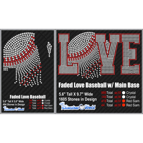 TRW FADED LOVE BASEBALL Design W/ MOCKUP  - Download