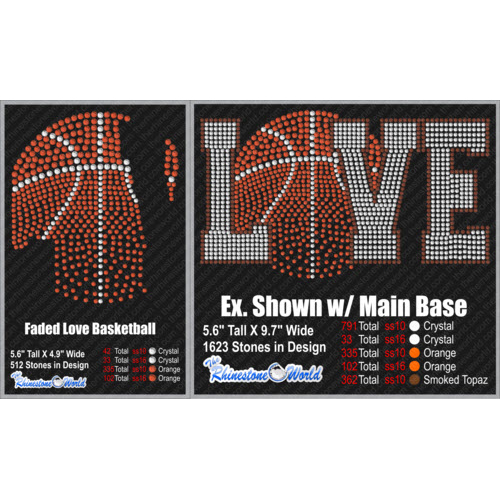 TRW FADED LOVE Basketball Design W/ MOCKUP Add-On  - Download