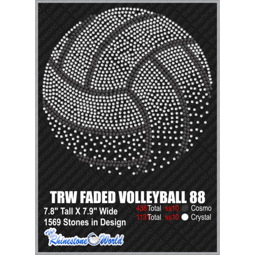 TRW FADED VOLLEYBALL 88 Design W/ MOCKUP  - Download