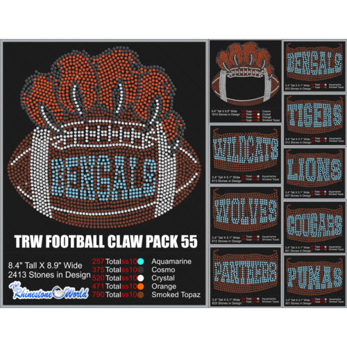 TRW FOOTBALL CLAW PACK 55  Design   - Download