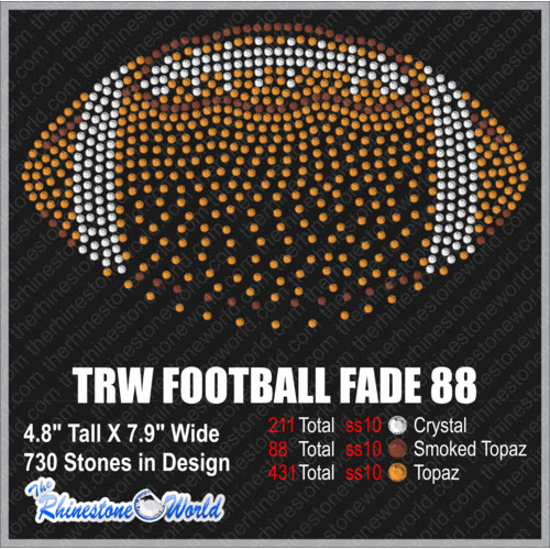 TRW FOOTBALL FADE  88 Design W/ MOCKUP  - Download