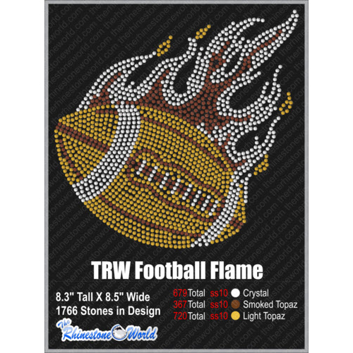 TRW FOOTBALL FLAME Design   - Download