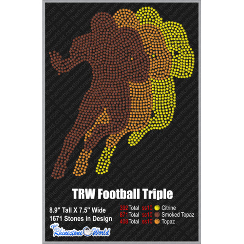 TRW FOOTBALL TRIPLE Design W/ MOCKUP  - Download