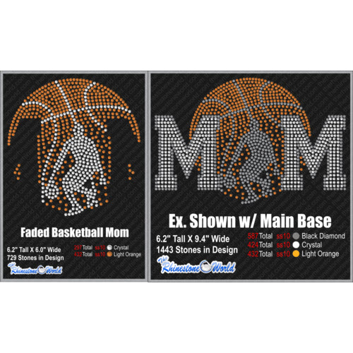 TRW Faded Basketball Mom Design  - Download