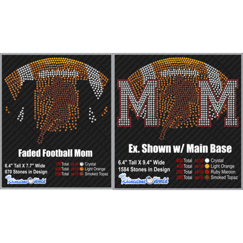 TRW Faded Football Mom Design  - Download