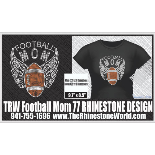 TRW Football Mom 77 Design W/ MOCKUP  - Download