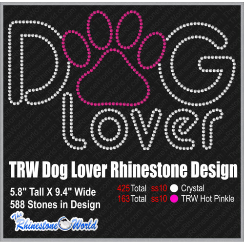 Dog Lover Rhinestone Design - Download