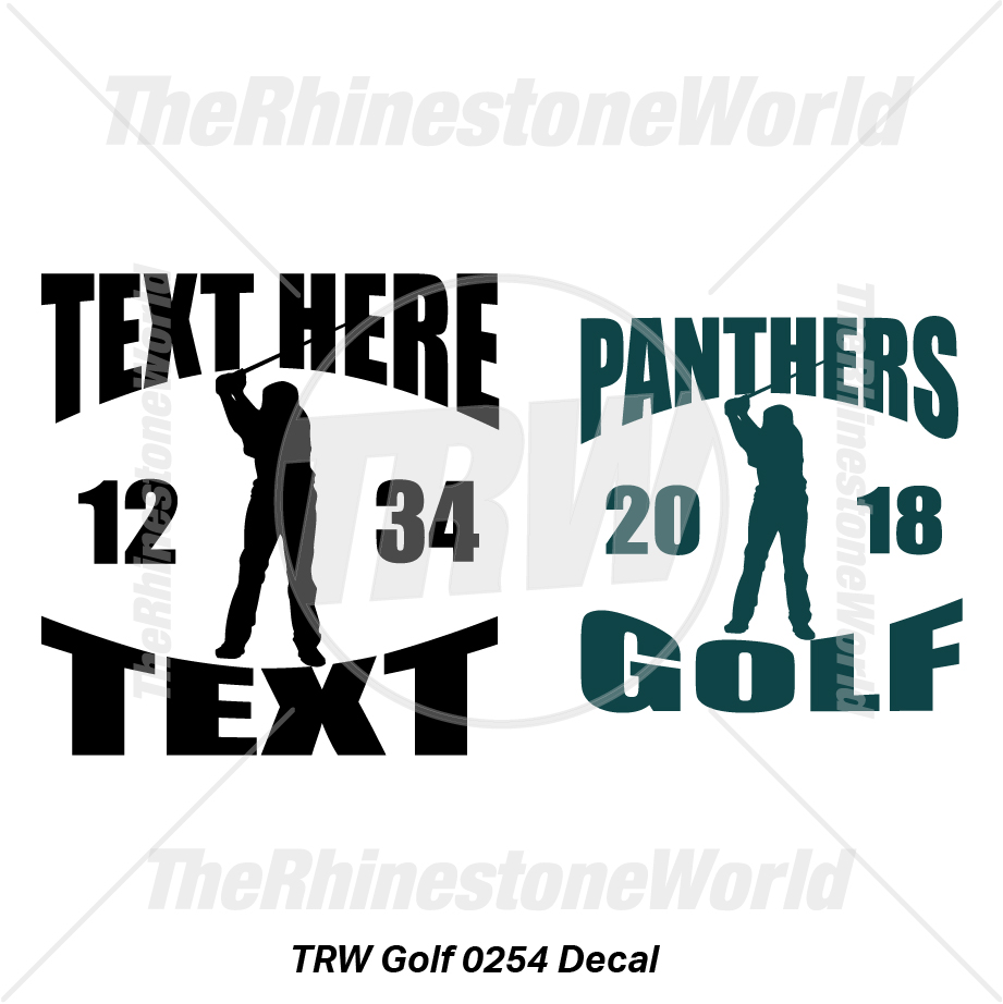 TRW Golf 0254 Decal (Vol 1) - Download