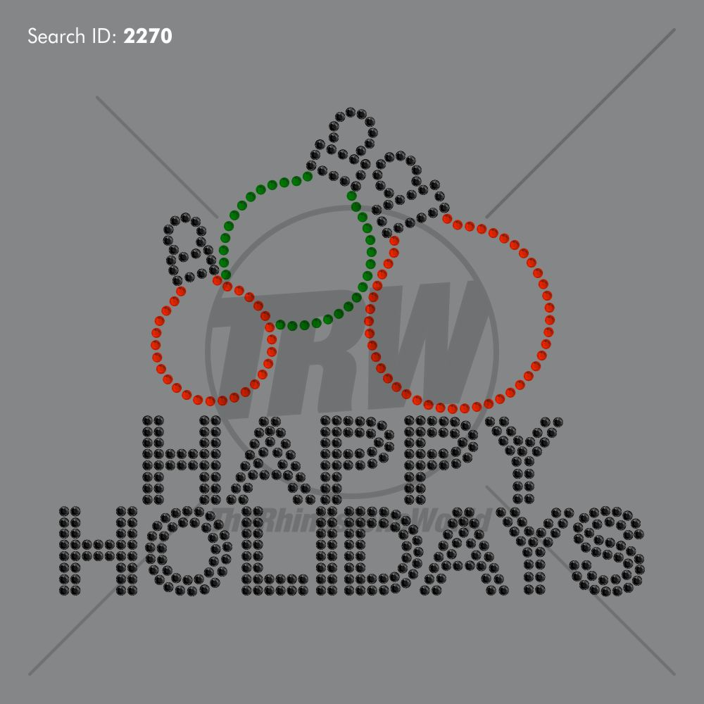 Happy Holidays Rhinestone Design - Download