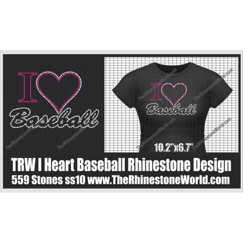 TRW I HEART baseball Design  - Download
