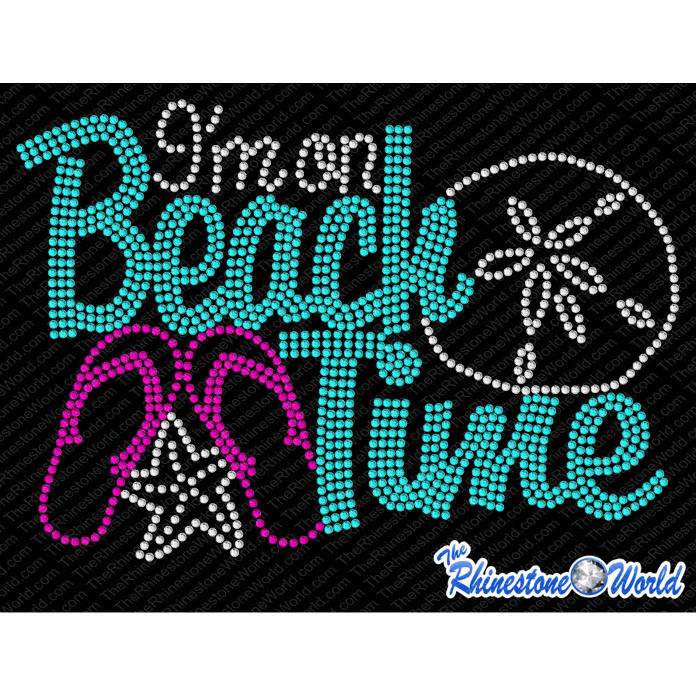 TRW I'm on Beach Time Rhinestone Design Download - Download