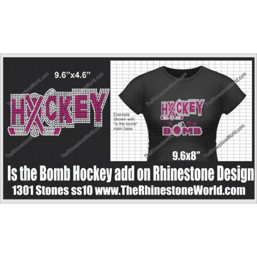 TRW Is the Bomb Hockey add on SF Rhinestone design (Download - Download