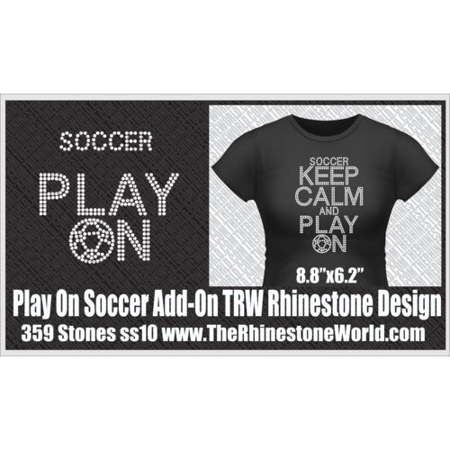 TRW KEEP CALM Soccer Play On Add-On Design  - Download