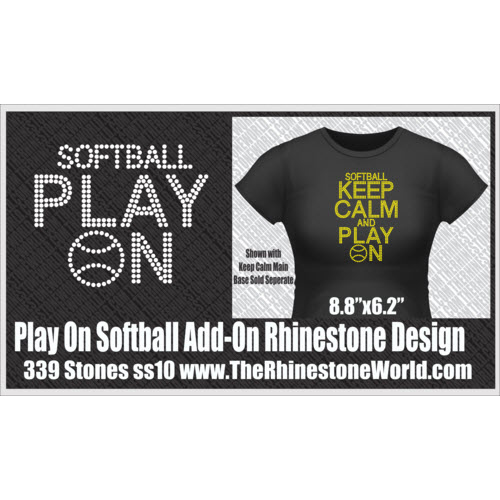 TRW KEEP CALM Softball Play On Add-On Design  - Download