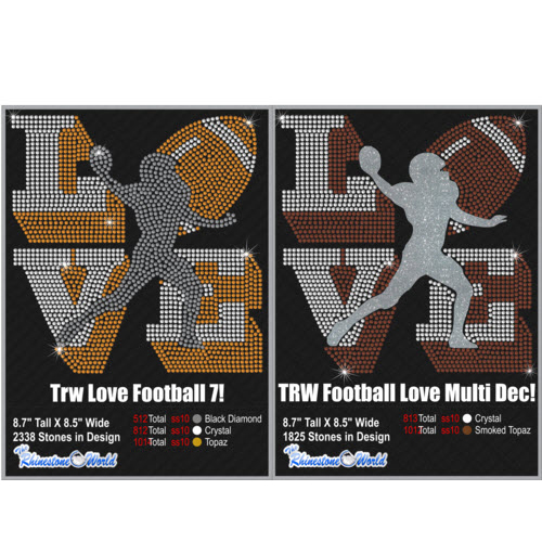TRW Love Football Multi Dec Pack 7 Design W/ MOCKUP  - Download