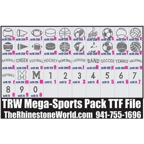 TRW Mega Sports Rhinestone TTF Pack - Download