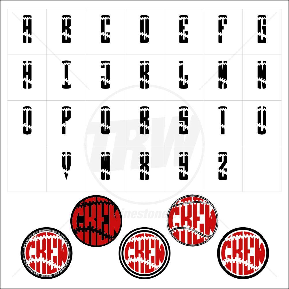 Monogram Templates   Trw Monogram Baseball 1 Ttf And 5 Monogram Templates Download