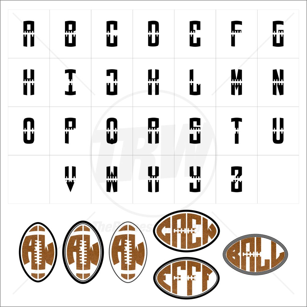 TRW Monogram Football TTF and 6 Monogram Templates - Download