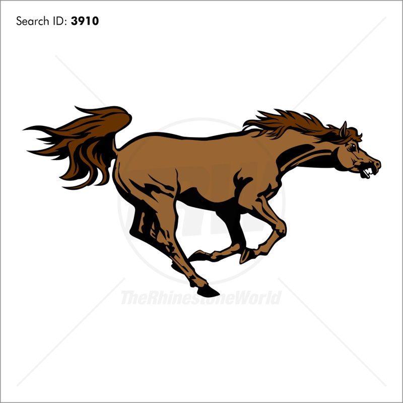 Mustangs 5 Vector Mascot - Download