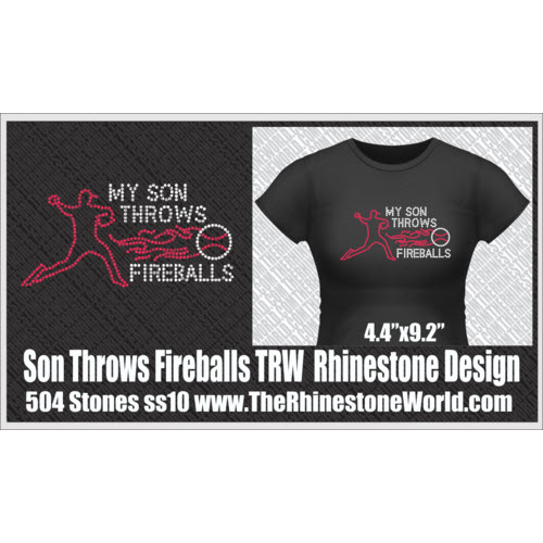 TRW My Son Throws Fireballs Design  - Download