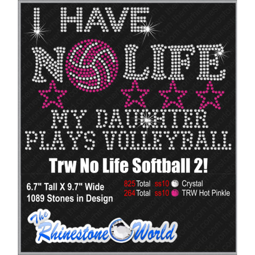 TRW No Life Volleyball Daughter Design   - Download