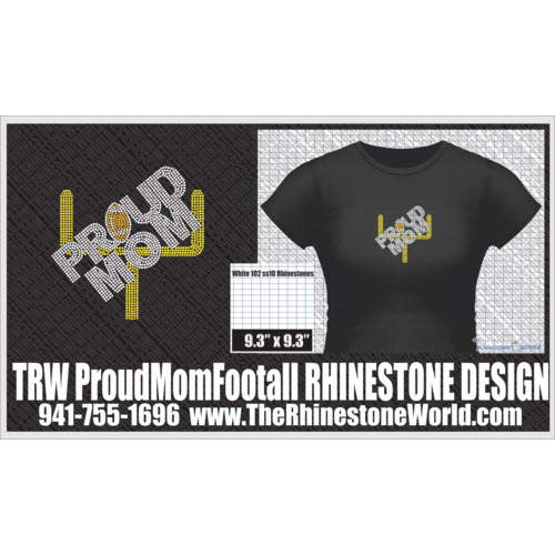 TRW Proud Mom Football Design W/ MOCKUP  - Download