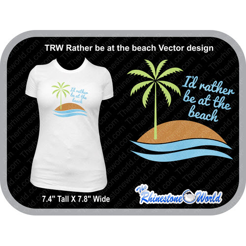 TRW Rather be at the beach Vector Design  - Download