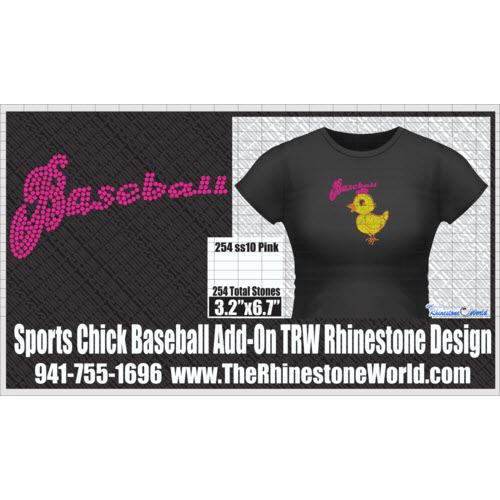TRW  SPORTS CHICK BASEBALL ADD-ON Design W/MOCKUP  - Download