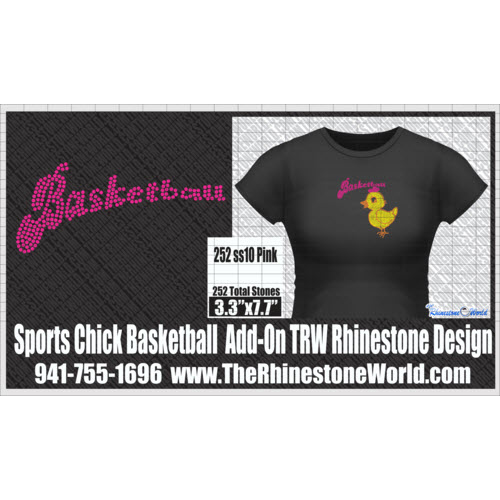 TRW  SPORTS CHICK Basketball Add-On Design W/MOCKUP  - Download
