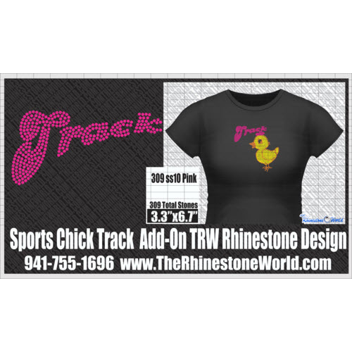 TRW  SPORTS CHICK TRACK Rhinestone Design   - Download