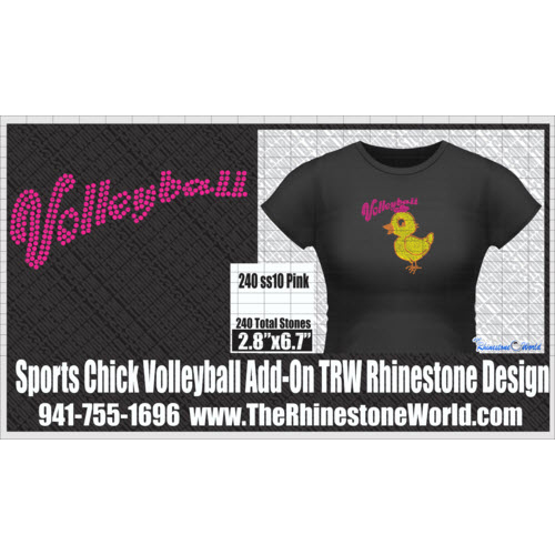 TRW  SPORTS CHICK VOLLEYBALL ADD-ON Design W/MOCKUP  - Download